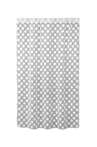 Heritage Lace Polka Dot Panel, 42 by 63-Inch, White - Heritage Panel Bed