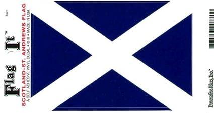Scotland Cross Heavy Duty Vinyl Bumper Sticker (3 X 5 Inches)