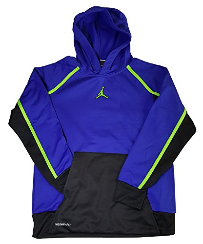 Nike Youth/Kid's Air Jordan Therma-fit Hoodie, Blue, Large