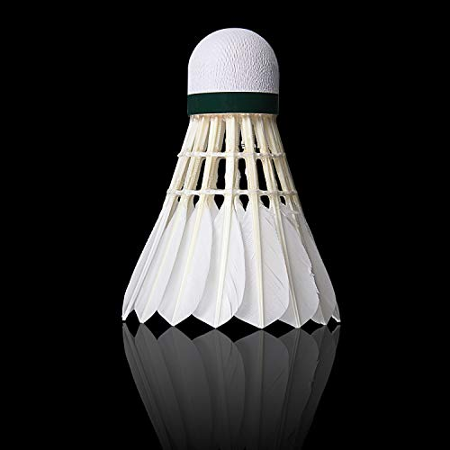 KEVENZ 12-Pack Advanced Goose Feather Badminton Shuttlecocks,Nylon Feather Shuttlecocks High Speed Badminton Birdies Balls with Great Stability and Durability (White) by KEVENZ (Image #1)