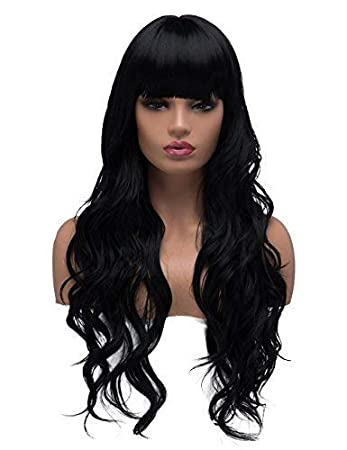 Amazon.com : BESTUNG Long Curly Wavy Wigs
