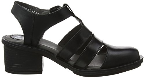Fly London Leather Cahy Womens Black Sandals 195 rr6gqUd