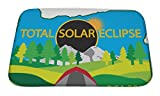 Gear New Bath Mat For Bathroom, Memory Foam Non Slip, 2017 Total Solar Eclipse Path Across Oregon State Camping Tent Color, 24x17, 6431677GN