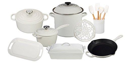 Le Creuset 16-Piece Cook's Essentials Set White