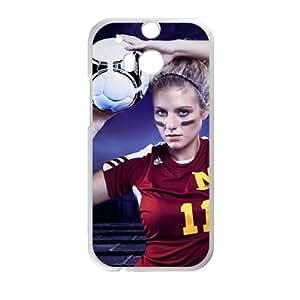 Blonde Soccer Ball Football Baby funda HTC One M8 caja funda del teléfono celular del teléfono celular blanco cubierta de la caja funda EVAXLKNBC21363