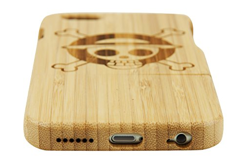 SunSmart Manual Natural Wood Bamboo Caja De Madera para iPhone 6 4.7(diente de león) una pieza