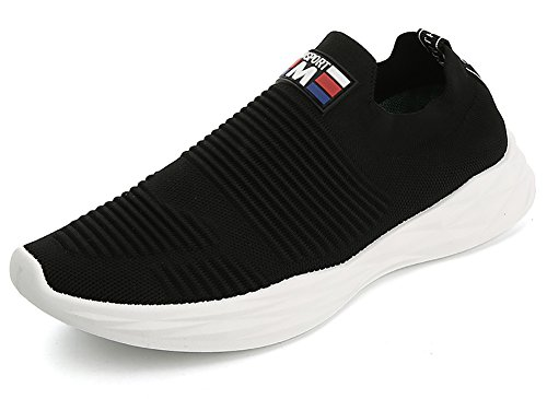 No.66 Town Men Flyknit Sneakers,Running Sock Shoes # Black
