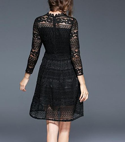 As2 Mini Sleeve Dress Accept Women Lace Waist Coolred Long Out Hollow W8PvwBqFxB