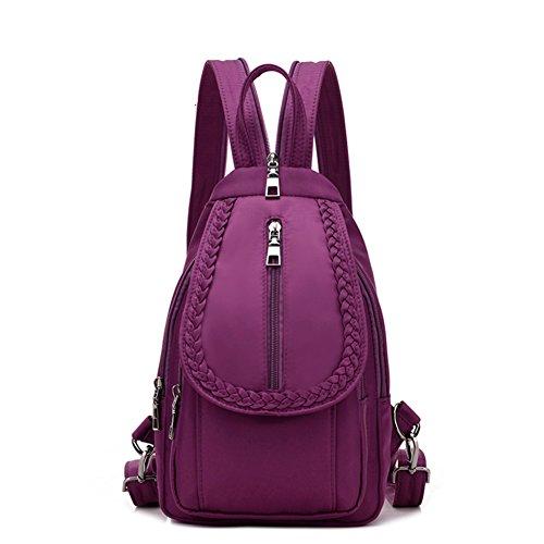 Las señoras chest pack,doble bandolera,mochila de viaje-Púrpura pequeña
