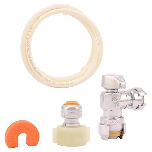 shark+bite Products : SharkBite 25088 Toilet Installation and Plumbing Kit Including Toilet Supply Line, Toilet Connector, and Toilet Angle Shut Off Valve