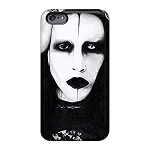 Shock Absorbent Hard Phone Case For Apple Iphone 6 (zYM2312ofnh) Customized HD Marilyn Manson Band Pictures