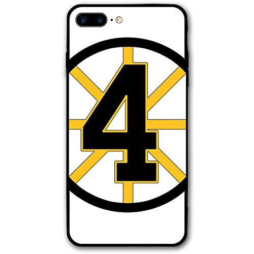 iPhone 7 Plus Case,iPhone 8 Plus Case, Bobby-Orr #4 Shock Absorption Bumper Soft TPU Cover Case for iPhone 7/8 Plus ()