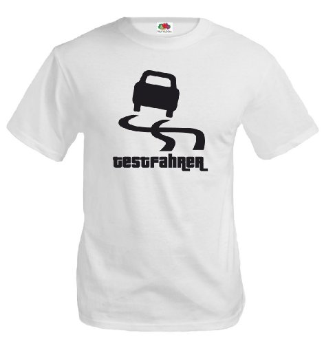 T-Shirt Testfahrer-XXXL-White-Black