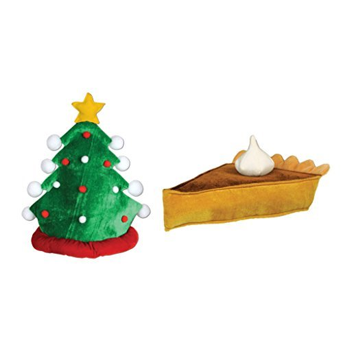 Beistle Plush Christmas Tree Hat with Beistle Plush Pumpkin Pie Hat]()
