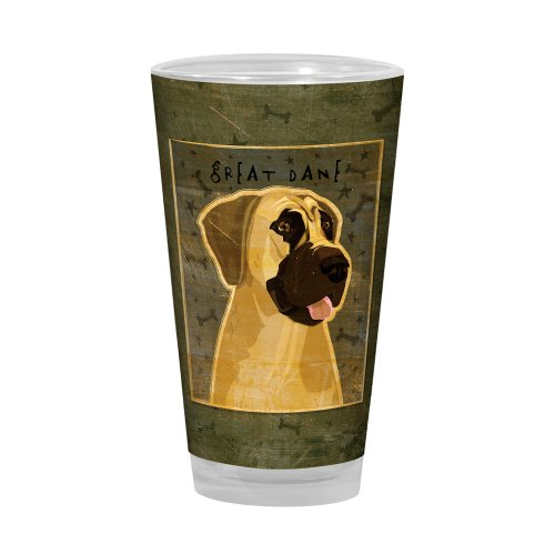 Great Dane Pint Glass