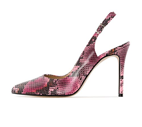 Classic Kengät Shoes High Eldof Elegante Avokkaat Teräväkärkiset Naisten Heels Python Korkokengät Pumput rose Court 10cm Tikari Stiletto Pumps Pointed Klassinen Toe Slingback Women qHZq7