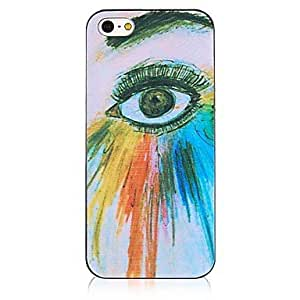 TOPQQ Colorful Eye Shadow Black Frame Back Case for iPhone 4/4S