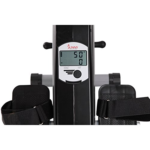 Sunny Health & Fitness SF RW5606 Elastic Cord Rowing Machine Rower w/ LCD Monitor