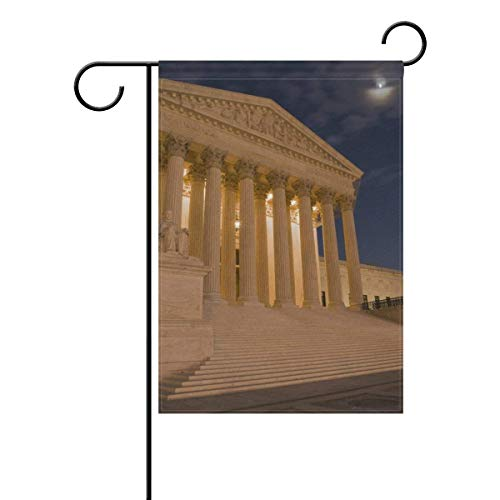 Seasonal US Supreme Court Garden Flag 12 X 18 Inches Double Sided Polyester Flag to Decor Brighten Up Your Home Garden Outdoor Yard -