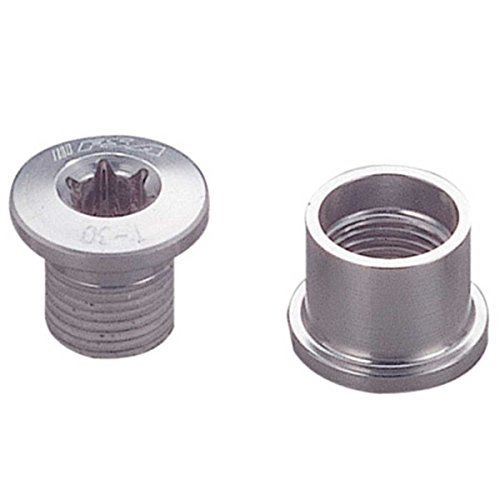 Double Chainring Bolt (FSA T30 Bicycle Chainring Bolts (Silver - Double - 10 Pieces))