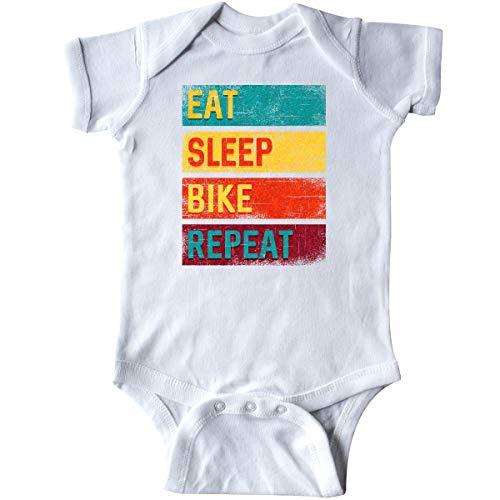 inktastic Cyclist Biking Eat Sleep Bike Infant Creeper 6 Months White 337d9