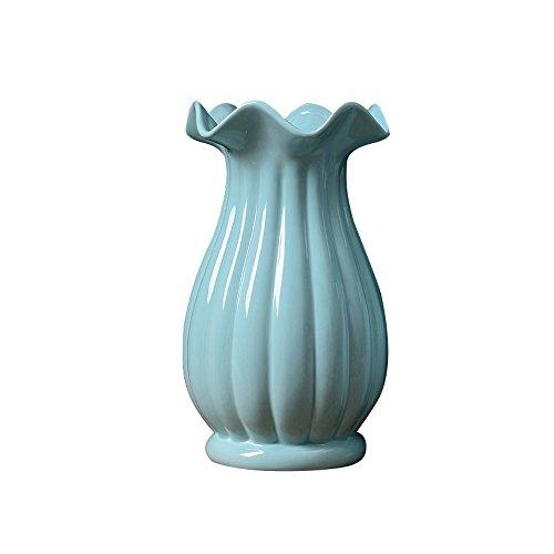 Porcelain Blue Light (Jomop Porcelain Flower Vase (10.2in, Light Blue))