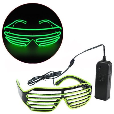 Superdental Shutter Shades Glowing glasses Cold Light Glasses for Dressing up Party and Cheering Decarative Blinds Frame for Boys and Girls Sound Control Mutiple Colour to - Shutter Shades Glowing