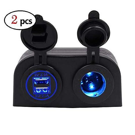 Amazon.com: XuBa - Cargador de coche para coche con doble ...