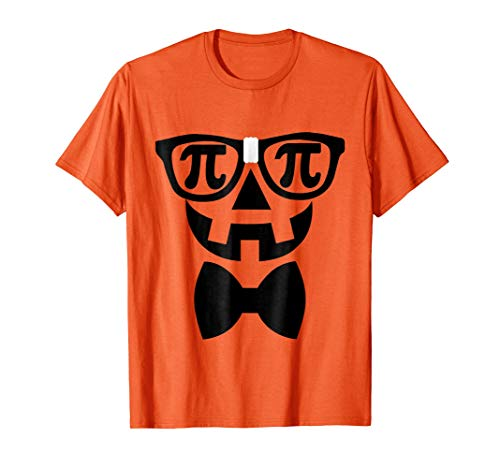 Pumpkin Pi Tshirt, Halloween Nerd Costume, Funny Math -