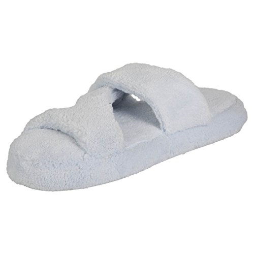 Baby Blue Spa Hounds Foam Z Womens Bath Memory Fluffy Slippers Tq8AO87w