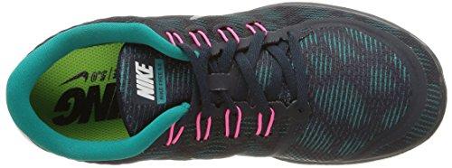 Nike Free 5.0 Utskrifts Kvinners Kjører Trenere 749593 Joggesko Sko (6,5 M Oss, Mørk Obsidian Toppmøtet Hvit Strålende Smaragd 401)