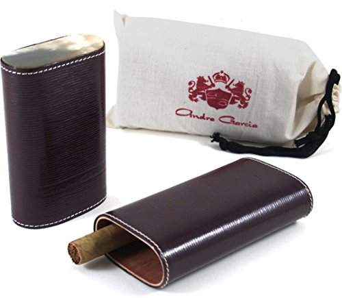 andre-garcia-limited-edition-maroon-woven-leather-cedar-lined-telescopic-3-finger-cigar-case-with-fl