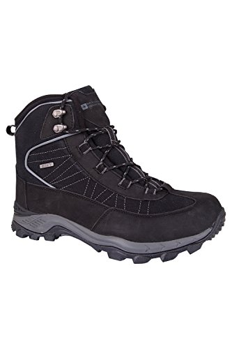 Mountain Warehouse Boulder Mens Winter Waterproof Trekker Boots Dark Grey d253uhXD
