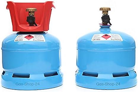 Botella/Gas Propano 2 kg con extraíbles para cuello (propano, botella de gas más pequeño 3 kg/5 kg/11 kg)