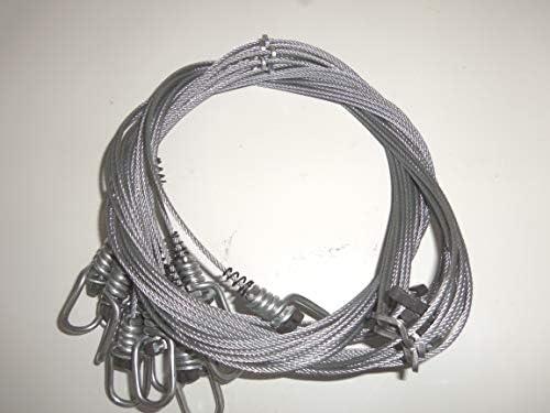 "Funke Trap Tags 48/"" 3//32  Adjustable End Micro Lock Snares Beaver Raccoon"