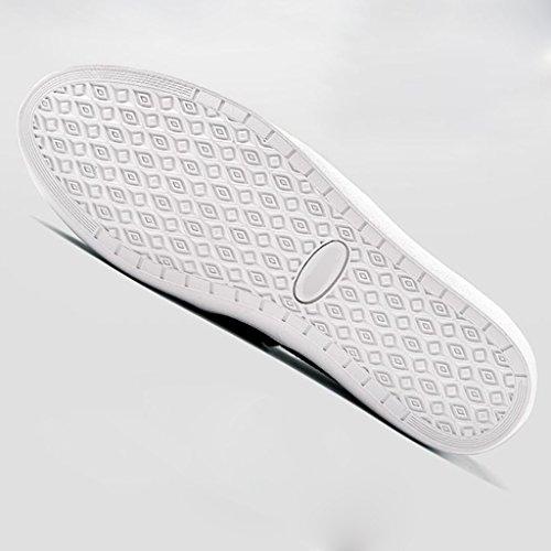 tela Scarpe 43 casual uomo YaNanHome da coreano di Scarpe stile tendenza ginnastica Black scarpe uomo Color da traspirante Size Espadrillas Gray basse da E1xw1g0q