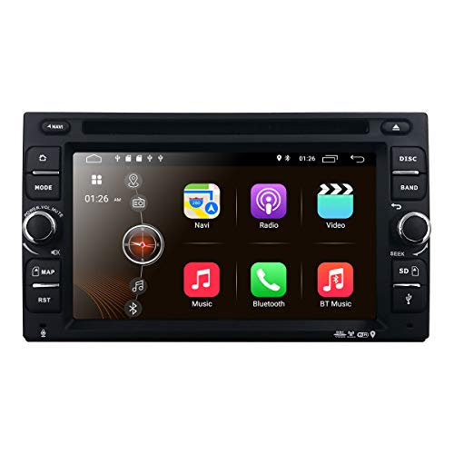 Android 9.0 Car Stereo, Quad Core 16GB+ 2GB Double Din Car DVD CD Player with Bluetooth GPS Navigation 6.2 inch Touch Screen – Support WiFi, MirrorLink, Backup Camera, AUX Input, USB SD, Dash Cam