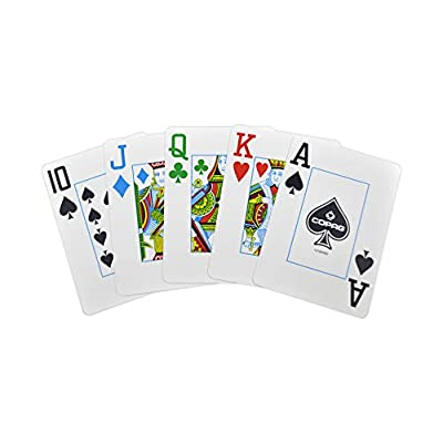 Copag 4-Color Dual Deck Set - Red/Blue, Poker Size, Jumbo Index - 100% Plastic Playing Cards with Protective Display Case: Toys & Games