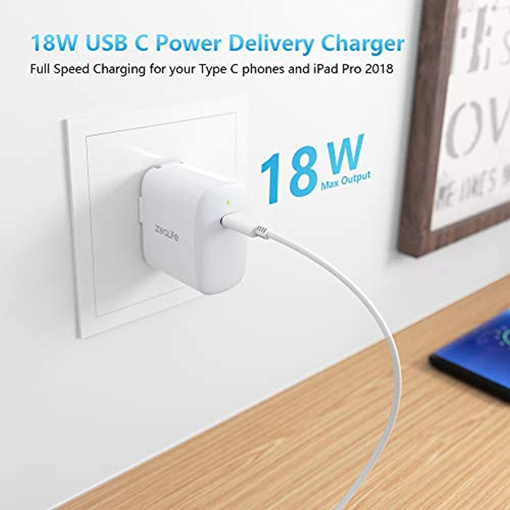 18W USB C Fast Charger Apple IPad Pro 2020/2018 12.9 11 ...