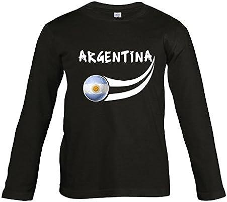 Supportershop – Camiseta Argentina Negra L/S para niño – Camiseta Argentina Negra L/S – Fútbol, ARLSJBLK, Negro, 4 años (Talla del Fabricante: 4 ANS): Amazon.es: Deportes y aire libre