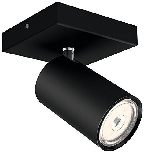 Philips Kosipo Opbouwspot 1-Lichts – GU10 Fitting – Accentverlichting – Excl. Lamp – Draaibaar – Rechthoekig – Zwart