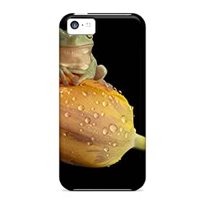 Perfect Fit Sms22634PMzl Frog On Tulip Cases For Iphone - 5c