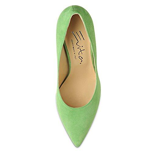 para de verde vestir Shoes claro Piel Zapatos Evita de mujer Verde fwqBSYWIW