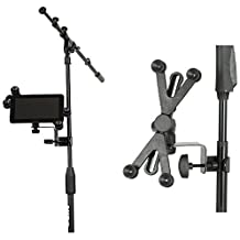 Hola! Music HM-MTH Microphone Music Stand Tablet / Smartphone Holder Mount - Fits Devices from 6 to 15 Inch