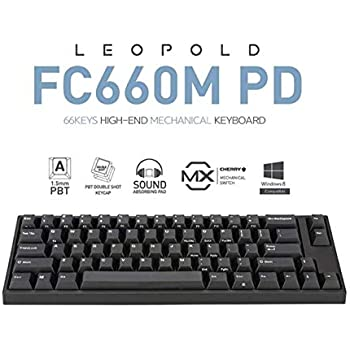 Leopold FC660M PD 66keys High-End Mechanical Keyboard Cherry MX (Black, RedSwitch(Low Noise))