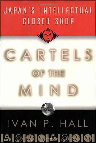 Cartels of the Mind: Japans Intellectual Closed Shop: Ivan ...