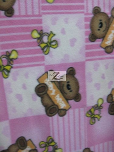Fleece Baby Patterns - BABY BEAR PRINT POLAR FLEECE FABRIC 60