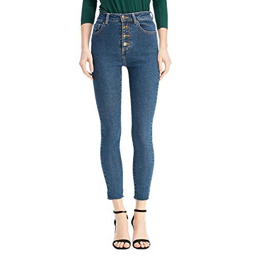 RZIV Women Denim Stretch Skinny High-Rise Ankle Jeans