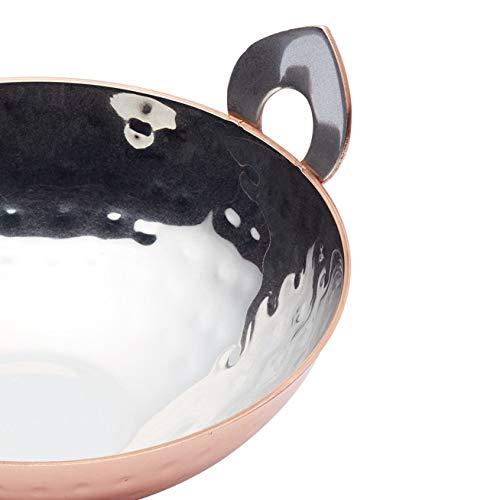 - Copper Finish 4.5 x 2 11 x 5 cm MasterClass Artes/à Mini Stainless Steel Karahi // Kadai