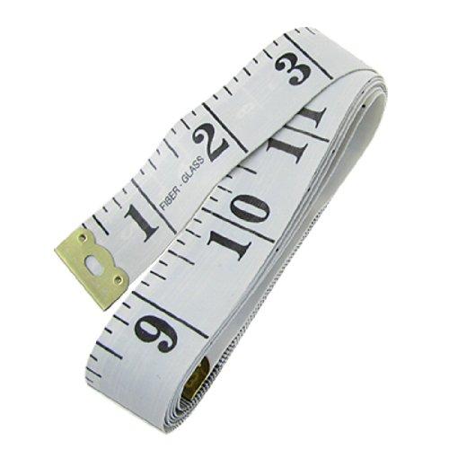 uxcell Tailor 150cm 60'' Length Fiber Glass Tape Measure Ruler White